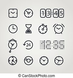 Different slyle of clock vector collection