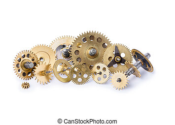 Different small gears heap