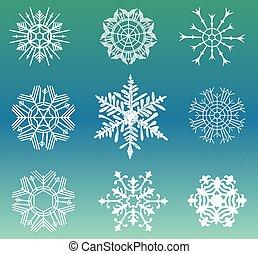 Different snowflakes set