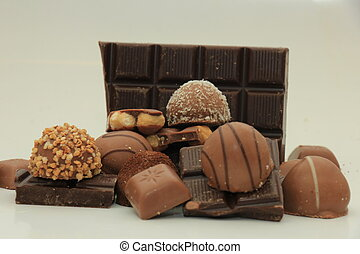 Different sorts of chocolates