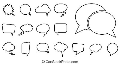 different speech bubbles collection