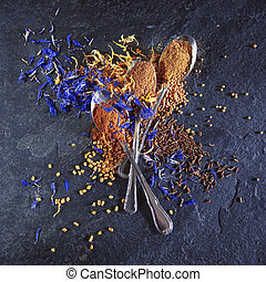 Different spices background