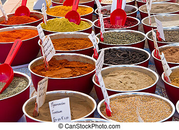 spices in market