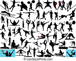 different sport collection - illustration of different sport...