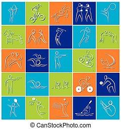 different sport icon design