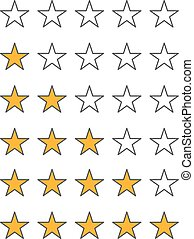 Different star icons vector set