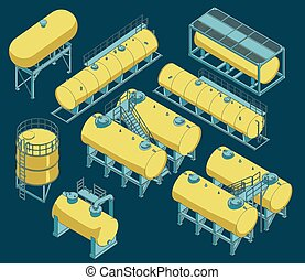 Different Storage tanks Set