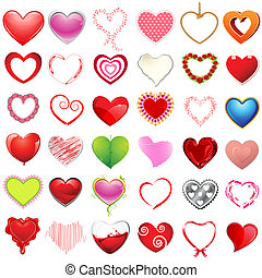 Different style of Hearts - illustration of different style ...