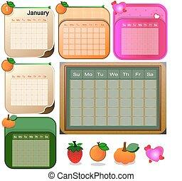 Different styles of calendar - Illu