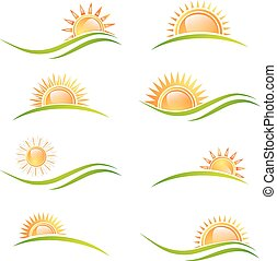 Different Sun at Landscape Set