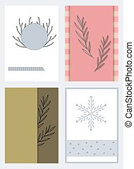 Different templates for invitations and greetings.