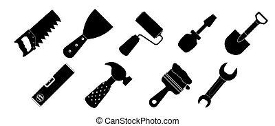 Different tools icon vector illustration set1