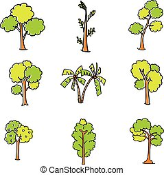 Different tree set of doodle