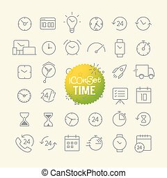 Different trendy outline icons collection. Web and mobile ...