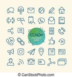 Different trendy outline icons collection. Web and mobile...