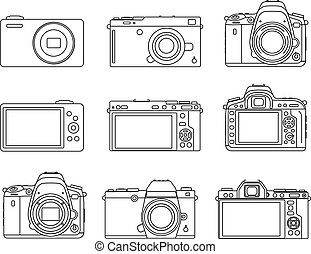 Different type camera icons
