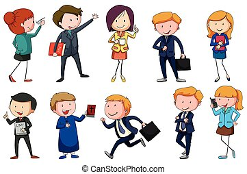 Different type of occupations illustration