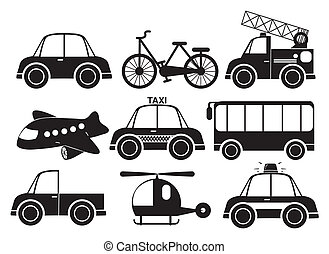 Different type of vehicles - Illustration of the different...