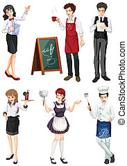 Different type of works - Illustration of the different type...