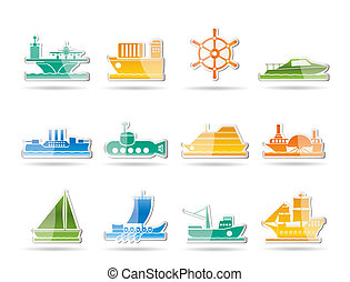 different types of boat and ship