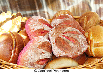 Different types of bread loaves typical of the Canary Islands