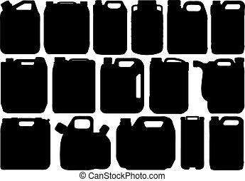 Different types of canister isolated on white