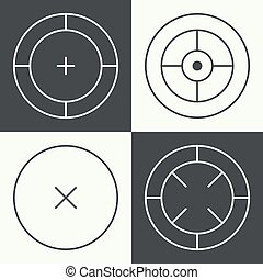different types of crosshair. - Set of different types of...