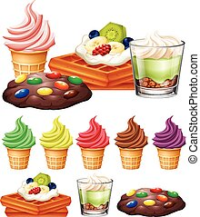 Different types of desserts