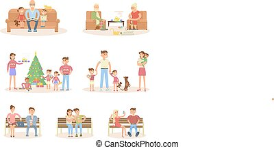 Different types of married couple set