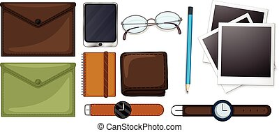 Different types of stationaries set