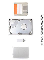 different types of storage media