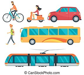 Different Types of Transport Vector Illustration