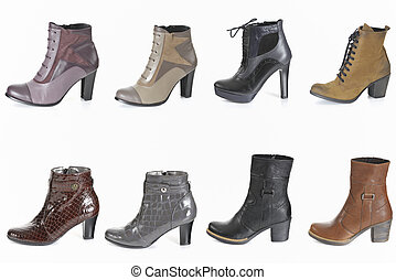 Different types of woman boot