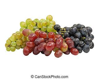 Different Varieties Grape.