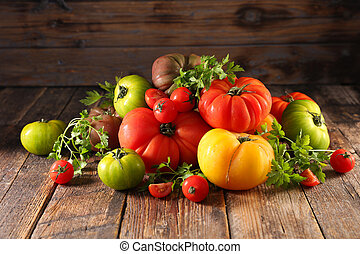 different variety of tomatoes