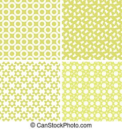 Different vector seamless patterns.