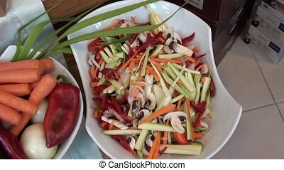 Different vegetables chopped ready