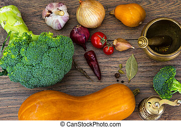 Different vegetables for cooking
