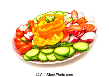different vegetables on a plate