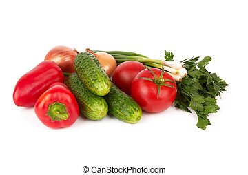 vegetables - different vegetables on a white background