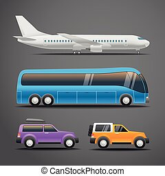Different vehicles vector illustration