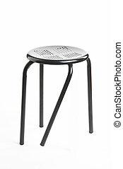 different - verschieden - metal chair with broken leg on...