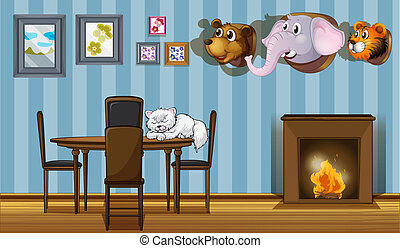 Different wall decorations