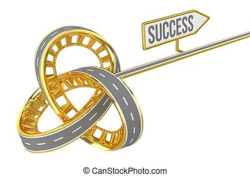 Different Way With SUCCESS Sign