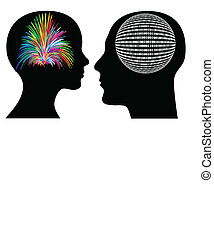 Man and woman might have different perceptions and mode of thoughts, between creative, spontaneous and logical, rational