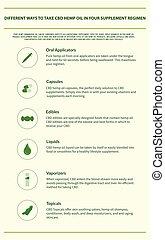 Different Ways to Take CBD Hemp Oil in Your Supplement Regimen vertical infographic