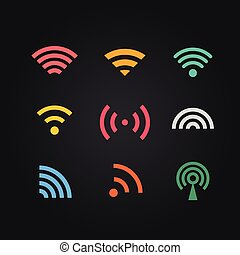 Different wireless color pictograms