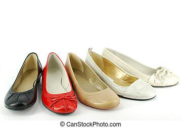 woman ballet flat shoes