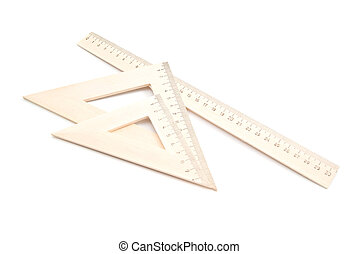 different wooden ruler