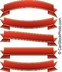 differente, bandiere orizzontali, in, classico, rosso, colori, differente, bandiere orizzontali, in, classico, rosso, colori
